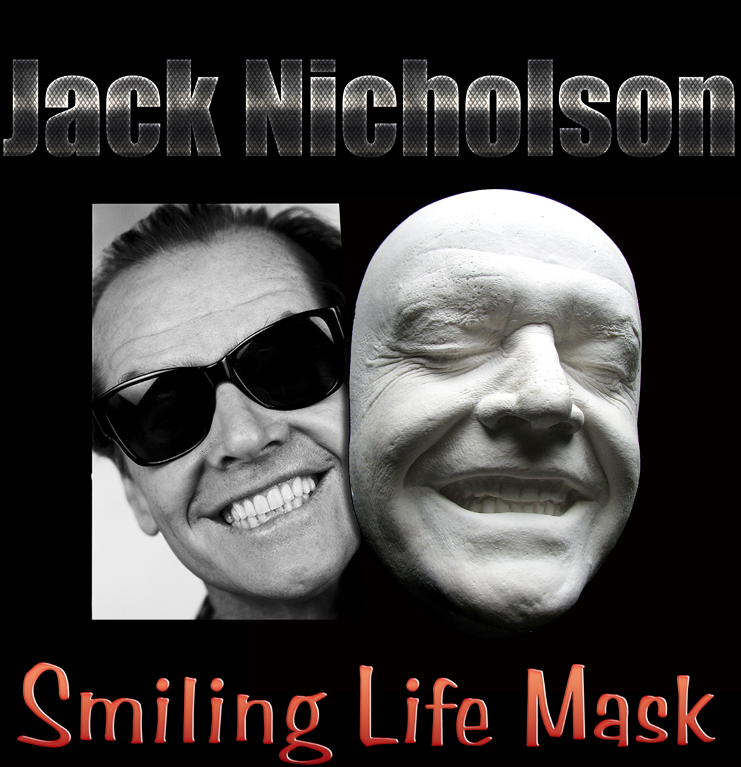 166959678867 This is a contemporary casting direct from an original life mask of Jack  Nicholson made as a display piece. The lifecast was originally made for make-up  ...